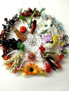 Handmade Wheel of the year. All Sabbats Pagan by PositivelyPagan