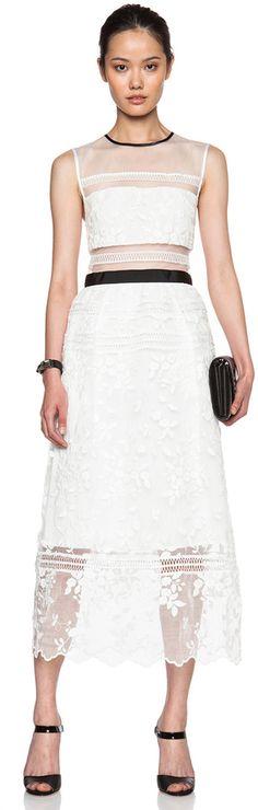 Lil Midi Dress by Self Portrait, Fashion, Design, Runway, Lace Inspired, Cut out, Mesh, Designer, Lace, h-a-l-e.com
