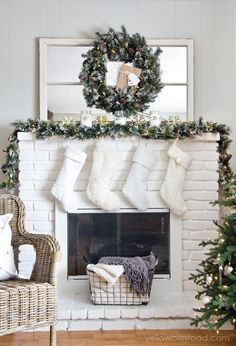 Rustic Glam Christmas mantel decor