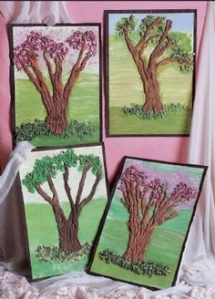 Ideal activity for investigating the seasons through the changes of trees: Belair - Textured Trees