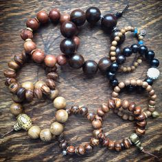 A selection of my gorgeous mala bracelets for men - guys love these and they make perfect gifts! Beaded Necklace, Beaded Bracelets, Yoga Fashion, Yoga Inspiration, Bracelets For Men, Guys, Trending Outfits, Unique Jewelry, Handmade Gifts