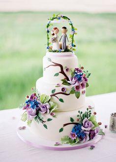 Precioso pastel de bodas