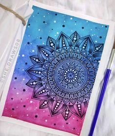 Mandala Book, Mandala Art Lesson, Mandala Doodle, Mandala Artwork, Mandala Painting, Doodle Art, Pattern Drawing, Pattern Art, Easy Mandala Drawing