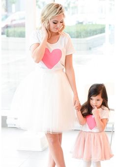 Heart tees and tulle skirts