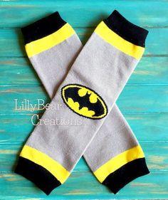 Batman Leg Warmers Boys Girls SuperHero by LillyBearCreations