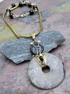 Artistically Yours vintage Snake Chain by ThePurpleLilyDesigns, $56.00
