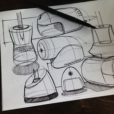 And for the product design sketching fans out there ... Warmups. #productsesign #designsketching #sketchaday #papermate