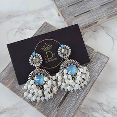 #blue #earrings #earringsfashion #handmade #handmadejewelry #jewelry #jewellery #jewelrydesigner #jewellerydesign #jewels #design #details #style #accessories #edtaccessories #stone #swarovskicrystals #swarovski #sweet #fashionista #fashion #fashionblogger #summer #sparkle