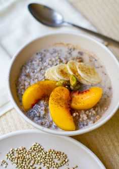 Try this for a hot cereal breakfast.. Simple Buckwheat Porridge. vegan & gluten-free recipe.