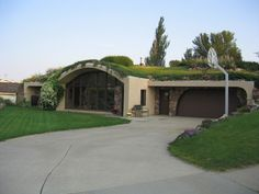 Cedar Falls, IA: This Terra-Dome earth-sheltered home is insulated under 2-5 feet of earth that keeps the interior of the home at an even temperature year-round.