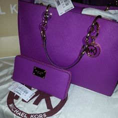 Michael Kors Purse I know it's not practical, but it's purple and I love it!!