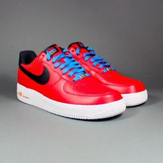 NIKE AIR FORCE 1 BARCELONA CHALLENGE RED BLACK 488298 604    $120