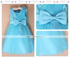 Kids Girls' Sequins Bowknot Gauze One-shoulder Sleeveless Pageant Tutu Dress 2015 – $19.69