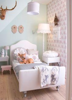 Leuke kamer met lieve kleurtjes!