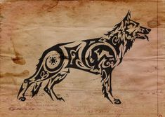 German Shepherd Tattoo Put Otto's name !! WANT THIS !!!
