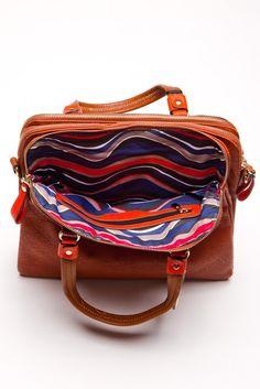 Gatsby Shoulder Bag in Rust | a-thread