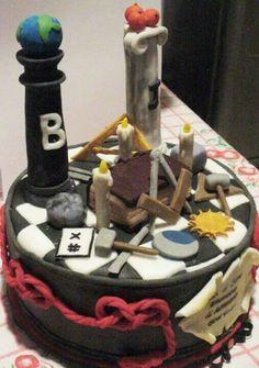 Massonic temple cake