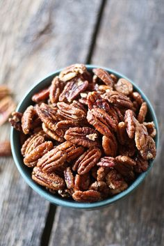 spiced maple glazed pecans by hannah * honey & jam, via Flickr