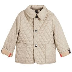 BURBERRY Baby Beige Quilted Jacket