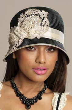 cloches are good for short or long hair - article with hat tips - http://www.boomerinas.com/2013/05/07/best-hat-styles-for-women-with-short-hair/