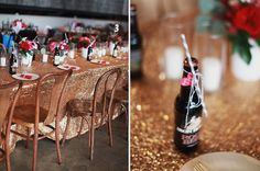 sequined linens