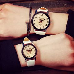 >> Click to Buy << Excellent Quality Korean Couple Womens Watches Mens Analog Quartz Watches for Gift Leather Wristwatches Relogio Feminino Clock #Affiliate