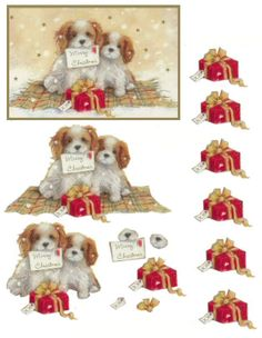 This Photo was uploaded by topazjack. Find other pictures and photos or upload your own with Photob. Christmas Decoupage, 3d Christmas, Christmas Cards To Make, Christmas Animals, Xmas Cards, Vintage Christmas, Christmas Images, Ace Card, Image 3d