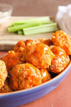 Buffalo Chicken Balls, a healthier alternative to my safeway buffalo binges