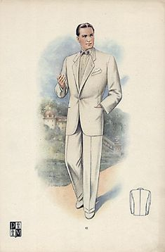 Czech 1940s men's suit