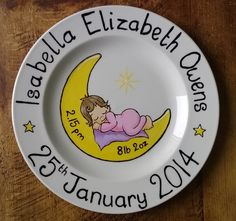Personalised Baby Birth Plate