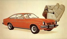1974 Chevrolet Vega GT Hatchback. It was brown with a tan interior..