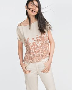 ZARA - COLLECTION AW15 - PRINTED TOP