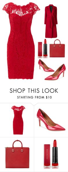 """""""Untitled #5864"""" by im-karla-with-a-k ❤ liked on Polyvore featuring ML Monique Lhuillier, Calvin Klein, Aspinal of London, Max Factor, Tagliatore, WorkWear and 60secondstyle"""