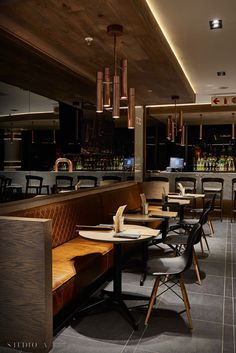 Studio A Signature Projects / Johannesburg, South Africa. Restaurant Design, Restaurant Bar, Pasta Bar, South Africa, Studio, Table, Furniture, Home Decor, Banquet