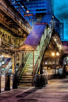 "Up to the ""EL"" Train - Chicago, IL. USA"