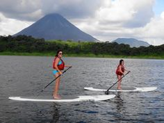 What a fun day on #LakeArenal in #CostaRica! Try #StandUpPaddling @DesafioCR!
