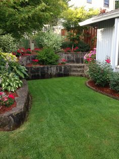 Front yard Outdoor Landscaping, Landscaping Ideas, Outdoor Decor, Back Deck, Front Yards, Yard Ideas, Curb Appeal, Stepping Stones, Backdrops
