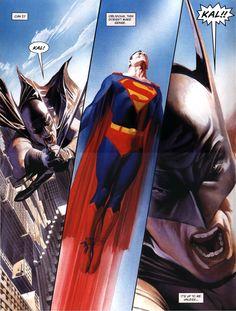 Batman & Superman by Alex Ross