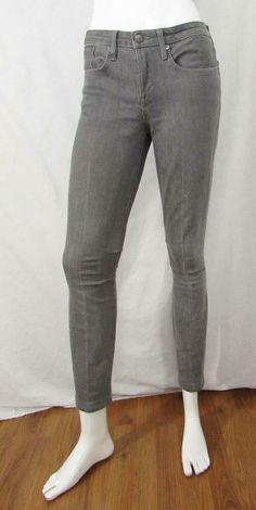 Helmut Lang SW-DN0151H Skinny Jeans Mid Rise Gray Made in USA sz 26 X 28 #HELMUTLANG Helmut Lang, Skinny Legs, Women's Clothing, Gray, Clothes For Women, Jeans, How To Make, Fashion, Thin Legs