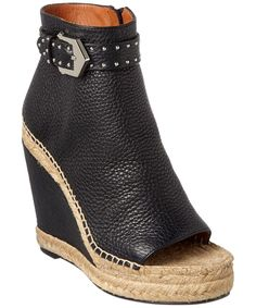 Givenchy Embellished Leather Espadrille Wedge Bootie