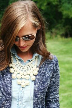 jillgg's good life (for less) | a style blog: my everyday style: playing dress up with chambray/denim! (part 3)