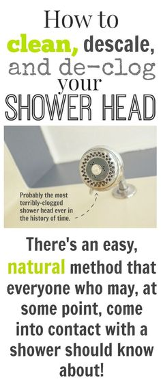 How to clean, descale, and unclog your shower head naturally!