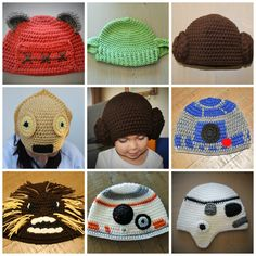 Star Wars Inspired Hats Handmade to Order by CrochetByDana