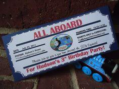 cool train invitation