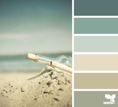 My dream palette! Perfect Coastal and Beach Decor: Coastal Decor Color Palette - Beached Tones Design Seeds, Colour Schemes, Color Combos, Colour Palettes, Beach Color Schemes, Paint Palettes, Colour Chart, Wall Colors, House Colors