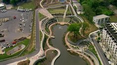 Historic Fourth Ward Park. The central amenity of the park is a large stormwater retention pond. Historic Fourth Ward Park is a 17-acre public park in the heart of the Old Fourth Ward neighborhood. Located near downtown and adjacent to the Atlanta BeltLine