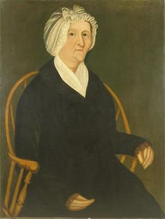 Portrait of Ruth Ayer Green (1753-1823), artist unknown, c. 1810. New Hampshire Historical Society 1913.016.02