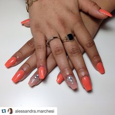 #acrylic @youngnailsinc #cover #peach For @mspaigeycakey by #alessandrayoungnailsitalia ! Tks Ale For Your attention For @youngnailsitalia  #instadaily #instagood #instalike #yni