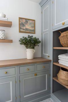 Laundry Room Shelves, Laundry Room Design, Laundry Rooms, Laundry Decor, Laundry Room Inspiration, Room Paint Colors, Classic House, Commercial Design, Design Firms
