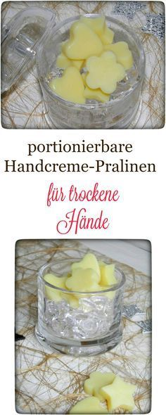 DIY Portionierbare Handcreme-Pralinen für trockene Hände Do you always have such dried hands - if so, then I recommend these portionable hand cream chocolates. Beauty Care, Diy Beauty, Homemade Gifts, Diy Gifts, Chocolates, Belleza Diy, Homemade Cosmetics, Lotion Bars, Dry Hands